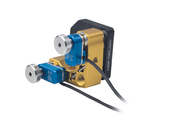 PI N-470K, PiezoMike linear actuators replace manual micrometer screws in tip/tilt mirror mechanics